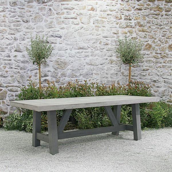 Bordeaux 8 X 39 Concrete Top Table Concrete Dining Table