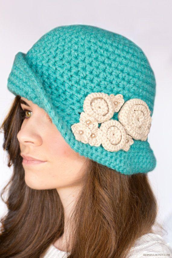 CROCHET PATTERN Charleston Cloche Hat por HopefulHoneyDesigns ...