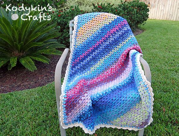 Copyright Kodykins Crafts Layer Cake Blanket | Crochet | Pinterest ...