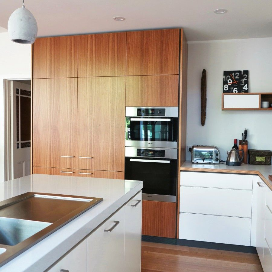 this cantilever kitchen design makes the most of the high ceilings
