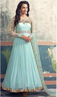 Sky Blue Georgette and Net Long Anarkali Stitched Churidar Suit Dupatta #heenastyle , #salwar , #kameez , #suits , #anarkali , #party, #wear , #panjabi , #patiyala , #abaya , #style , #indian , #fashion , #designer , #bridel , #evening , #formal , #office , #deaily , #dupatta , #churidar , #palazo , #plazzo , #nerrow , #pant , #dress , #dresses , #fashion , #boutique , #mode , #henna , @heenastyle , #latest , #gowns , #pakistani , #readymade , #stitched , #plus , #size , #islamic