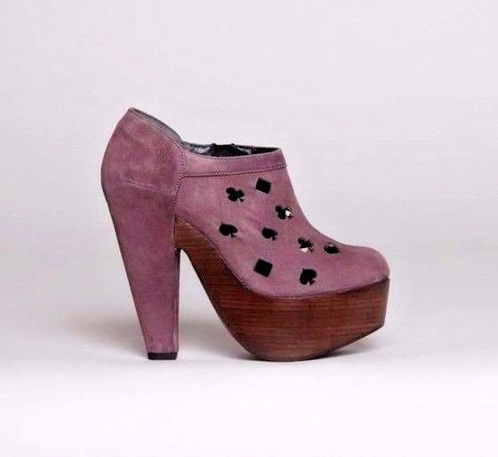 ROBERT CLERGERIE DOROTE ANKLE BOOTS 0 Vegas Cut Out Suede Platform Booties