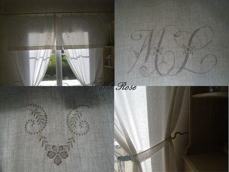 rideaux avec de vieux draps recycler pinterest vieux draps drap et vieux. Black Bedroom Furniture Sets. Home Design Ideas