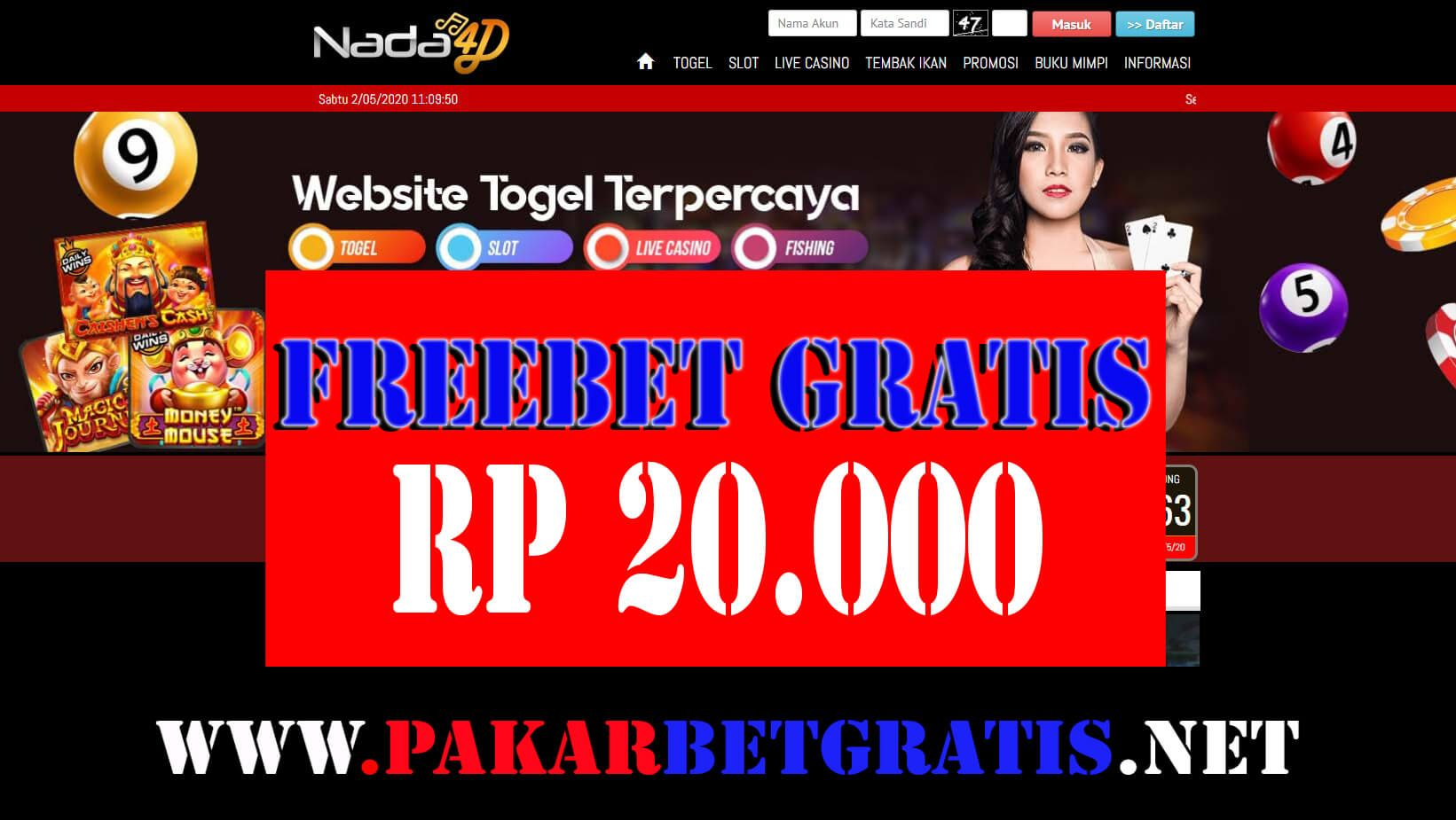 Nada4d Freebet Gratis Rp 20 000 Tanpa Deposit Website Uang Poker