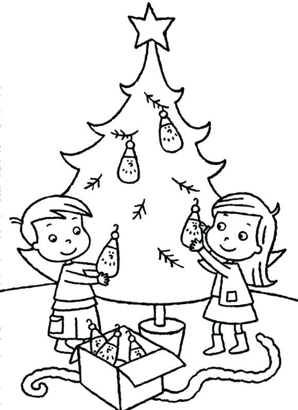 plain christmas tree coloring page coloring trees coloring ...