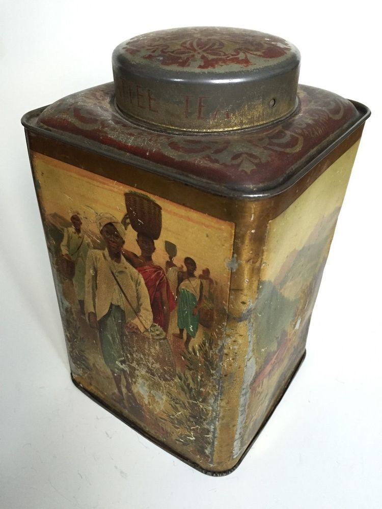 Antique Mazawattee Tea Tin Large 3lb Vintage Display | eBay