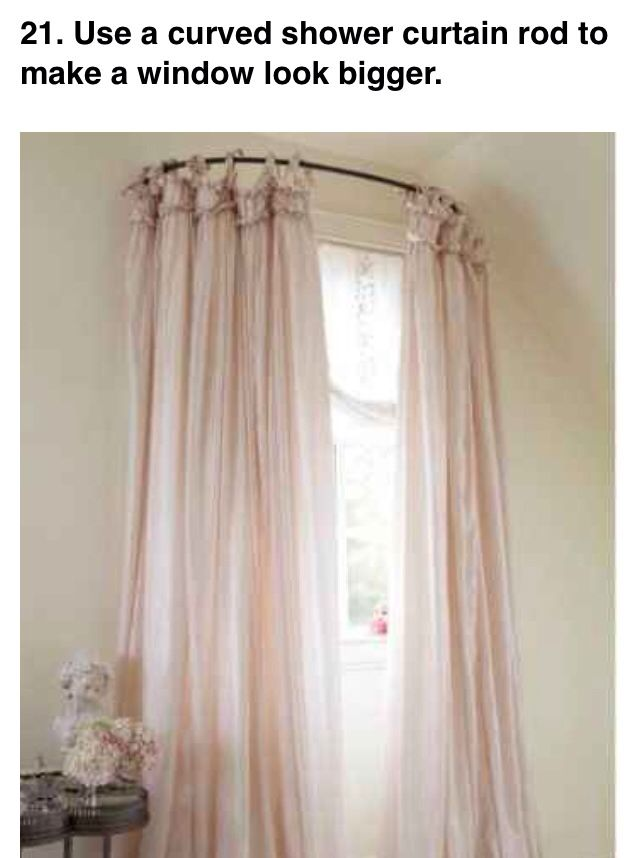 Curved Shower Curtain Rod For Windows With Images Shower
