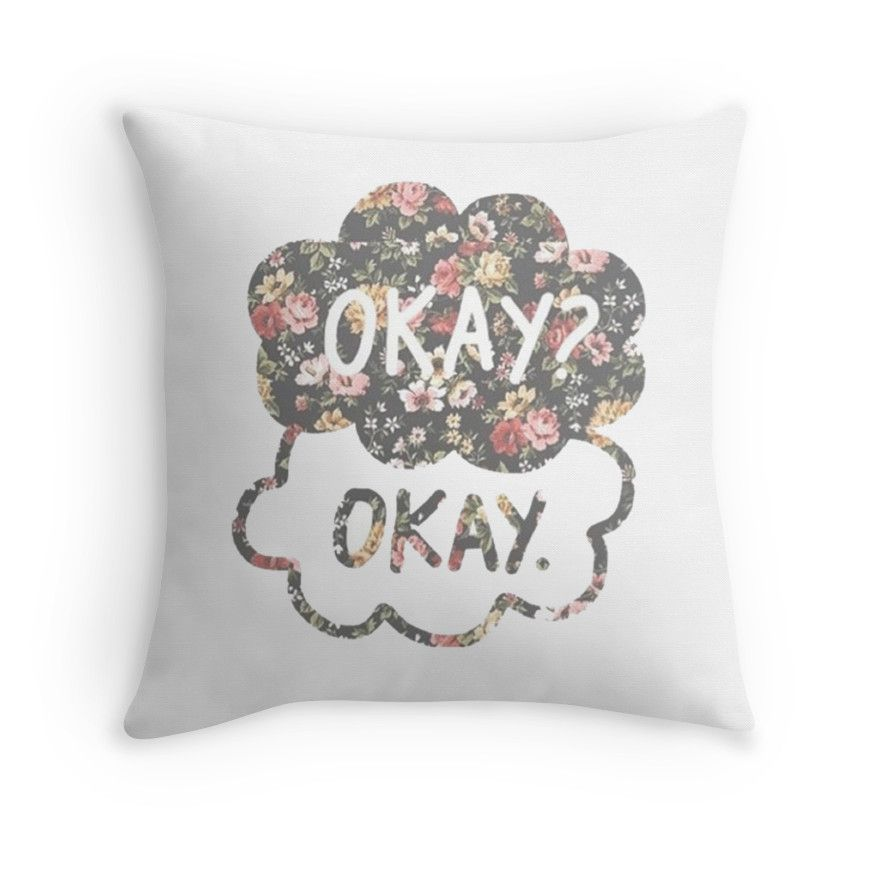 THROW PILLOW TFIOS OKAY? OKAY THE FAULT IN OUR STARS NEW