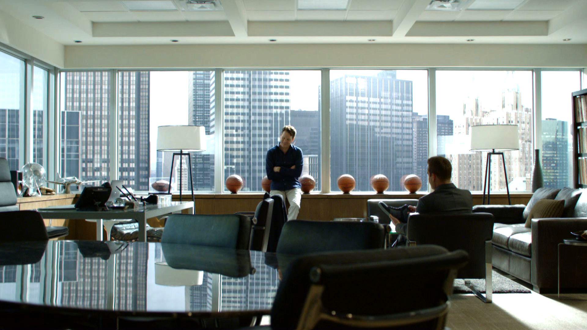 Harvey spectre office s k p google interior design for Bureau tv show
