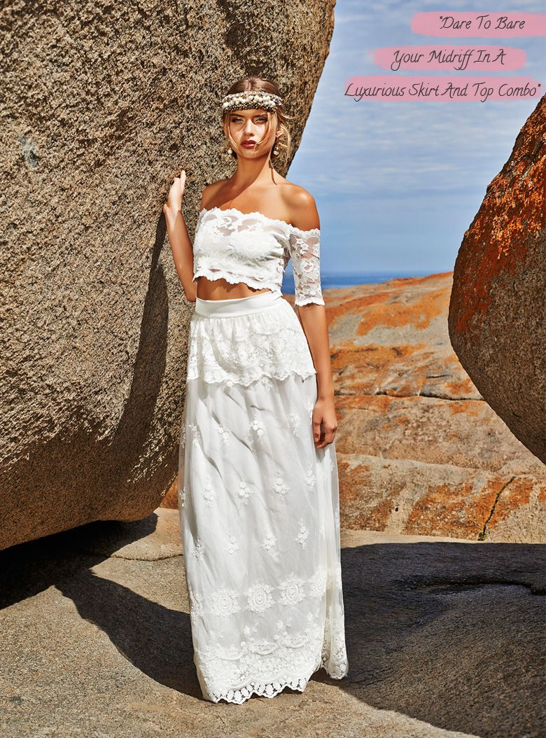 Another piece wedding dress for beach chic style ideal for your