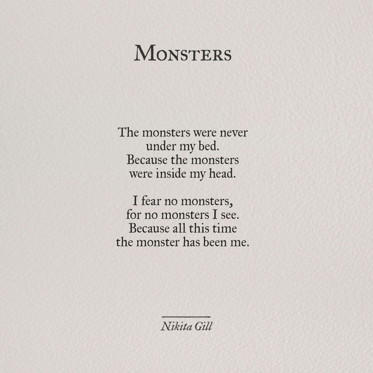 Image result for nikita gill monster