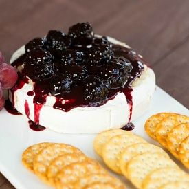 Baked Brie Recipe with Blackberry Compote