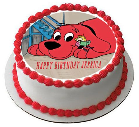 Clifford The Big Red Dog Edible Birthday Cake Topper Edible Cake