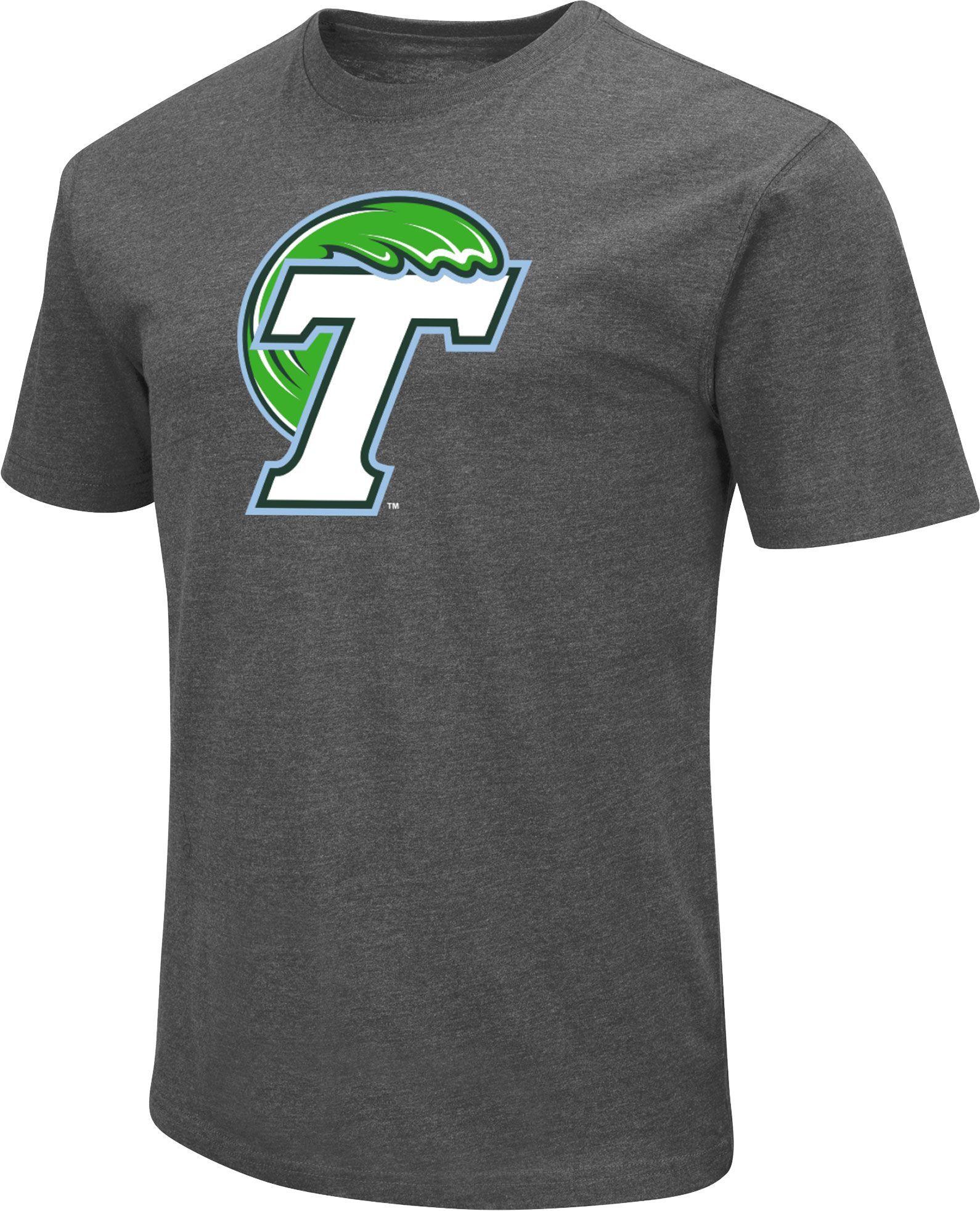 1615830c99e1 Colosseum Men s Tulane Green Wave Grey Dual Blend T-Shirt