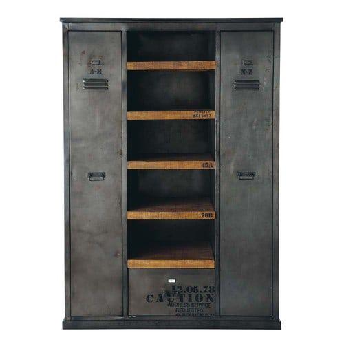 Dressing Industriel dressing indus en métal effet vieilli l 135 cm   meubles industriels