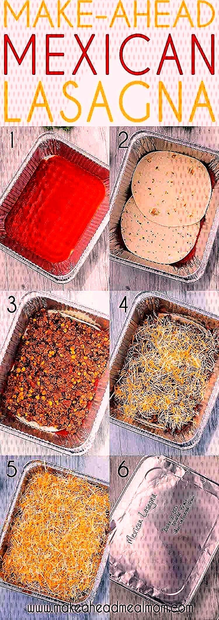 Make-Ahead Mexican Lasagna has all of your favorite south-of-the-border flavors in one easy layered