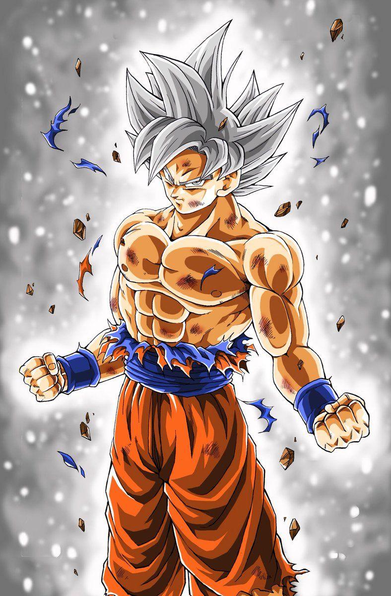 son goku ultra instinct mastered super saiyan silver