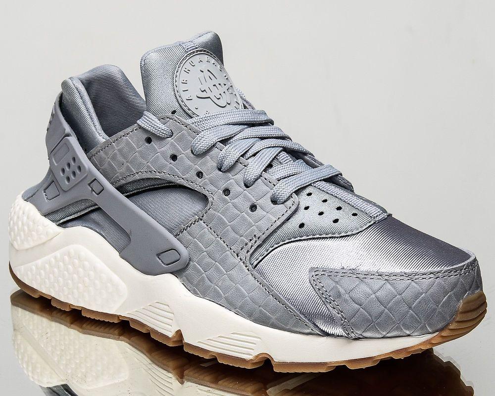 Nike WMNS Air Huarache Run Premium women lifestyle sneakers wolf grey 683818-012