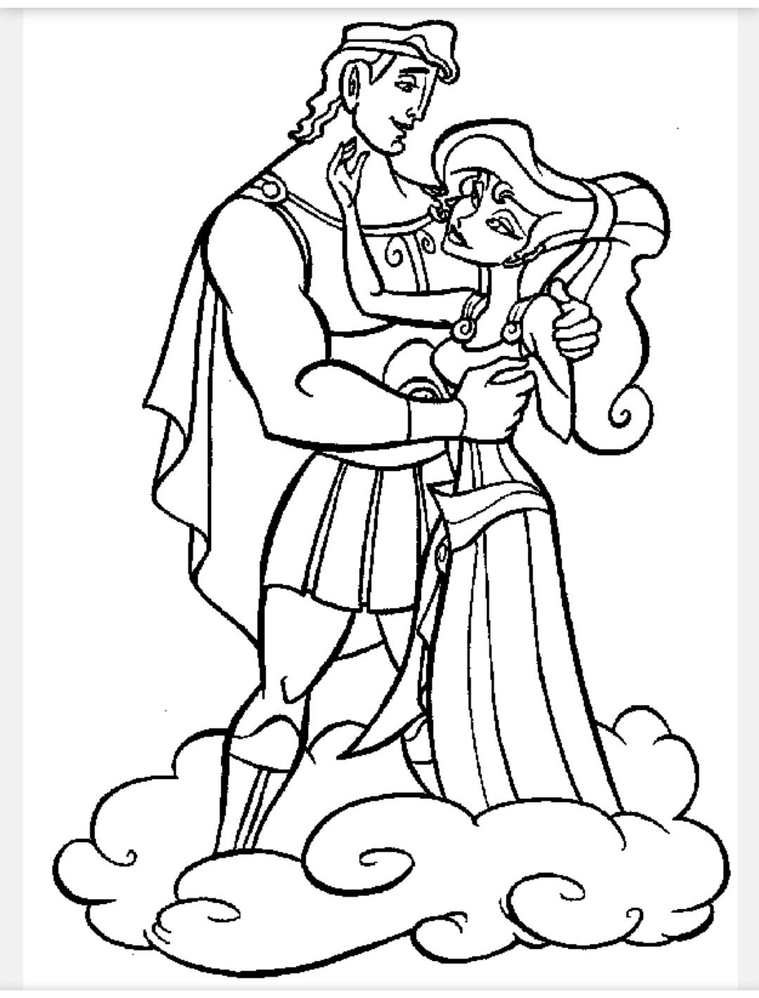 Hercules And Meg Coloring Pages Disney Coloring Pages Cartoon Coloring Pages Disney Princess Coloring Pages