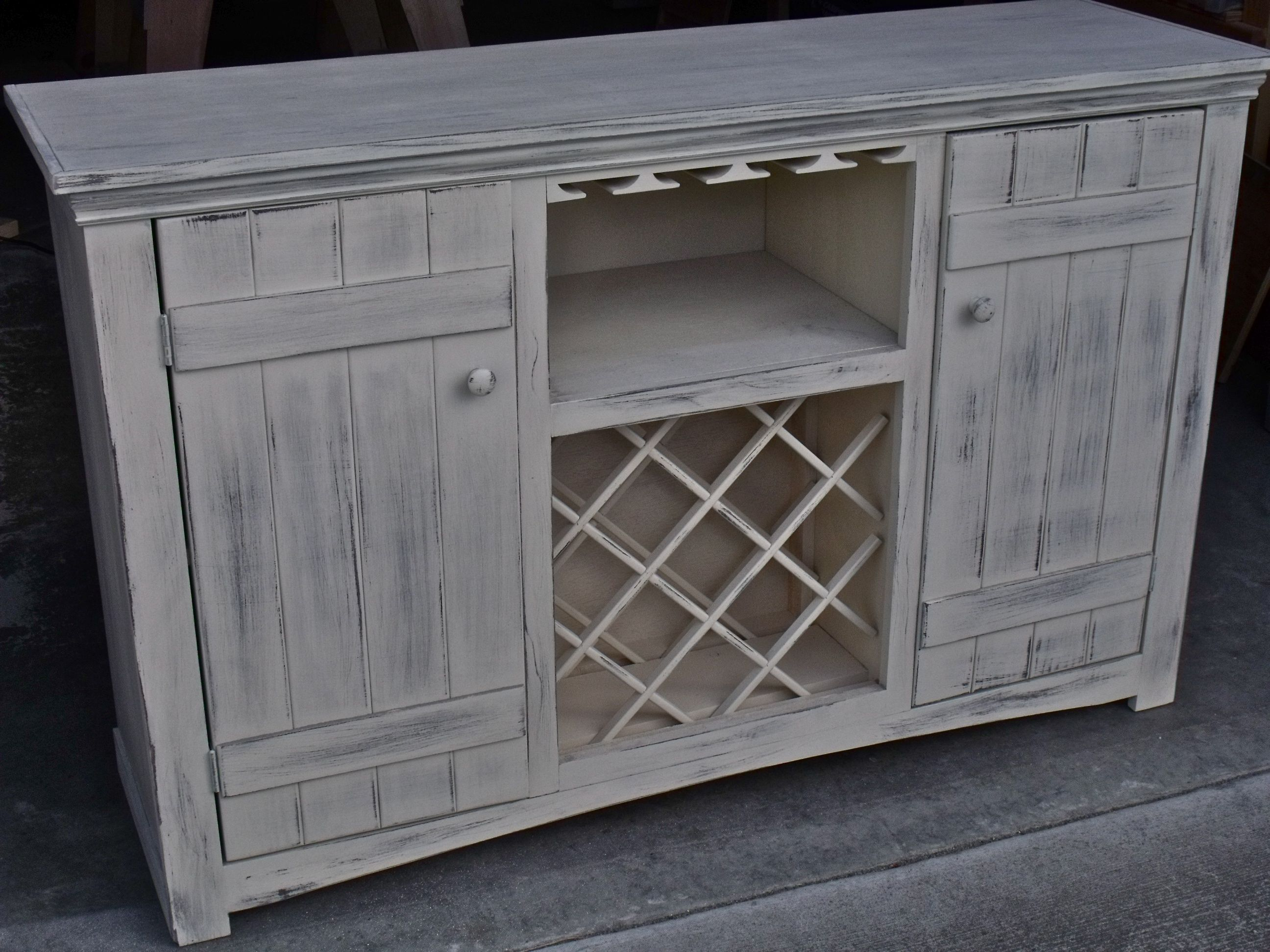 farmhouse buffet with wine storage | wine serving tables ...