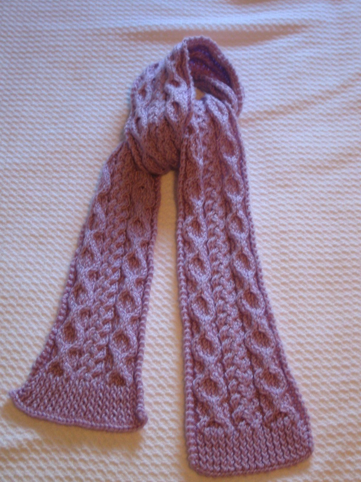 scarves to knit | Ravelry: Palindrome: A Reversible Cable Scarf ...