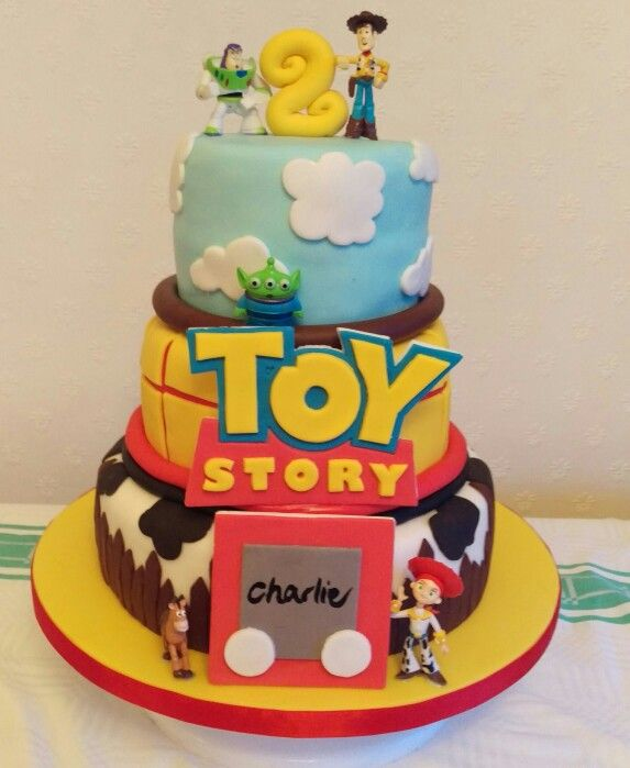My first 3 tiered Toy Story cake #ToyStory