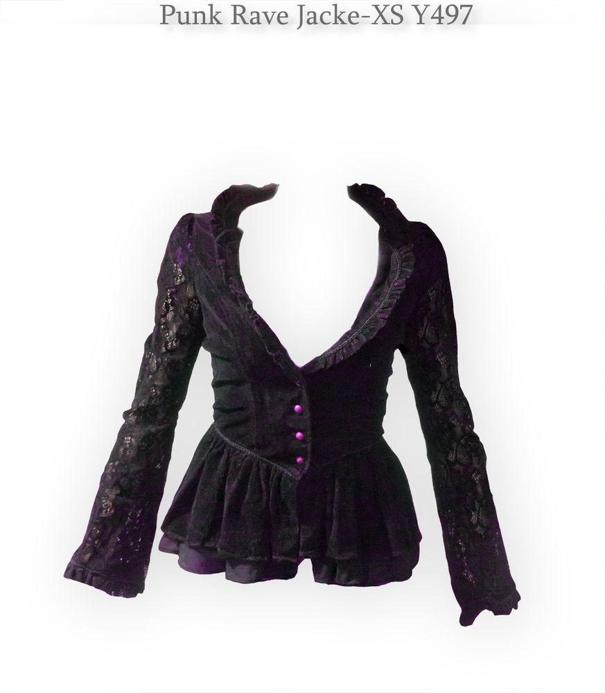 Punk Rave XS S Jacket Jacke lila victorian viktorianisch Rokoko ...