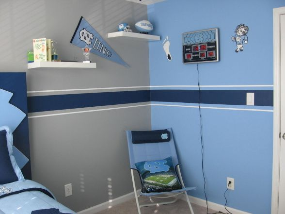 Go Tarheels This Was A Birthday Present To My 11 Year Old Son Husband Brother In Law And Myself Redecorated Drab Room So