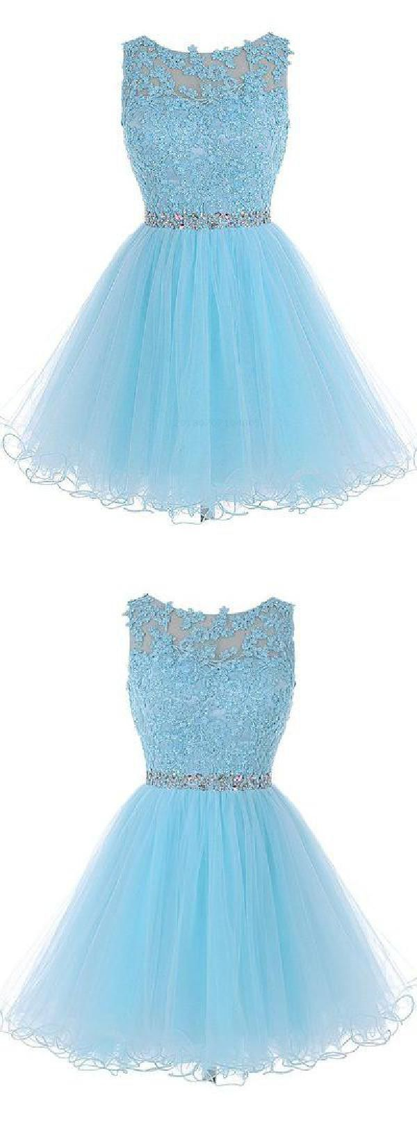 Discount nice short homecoming dress blue homecoming dress