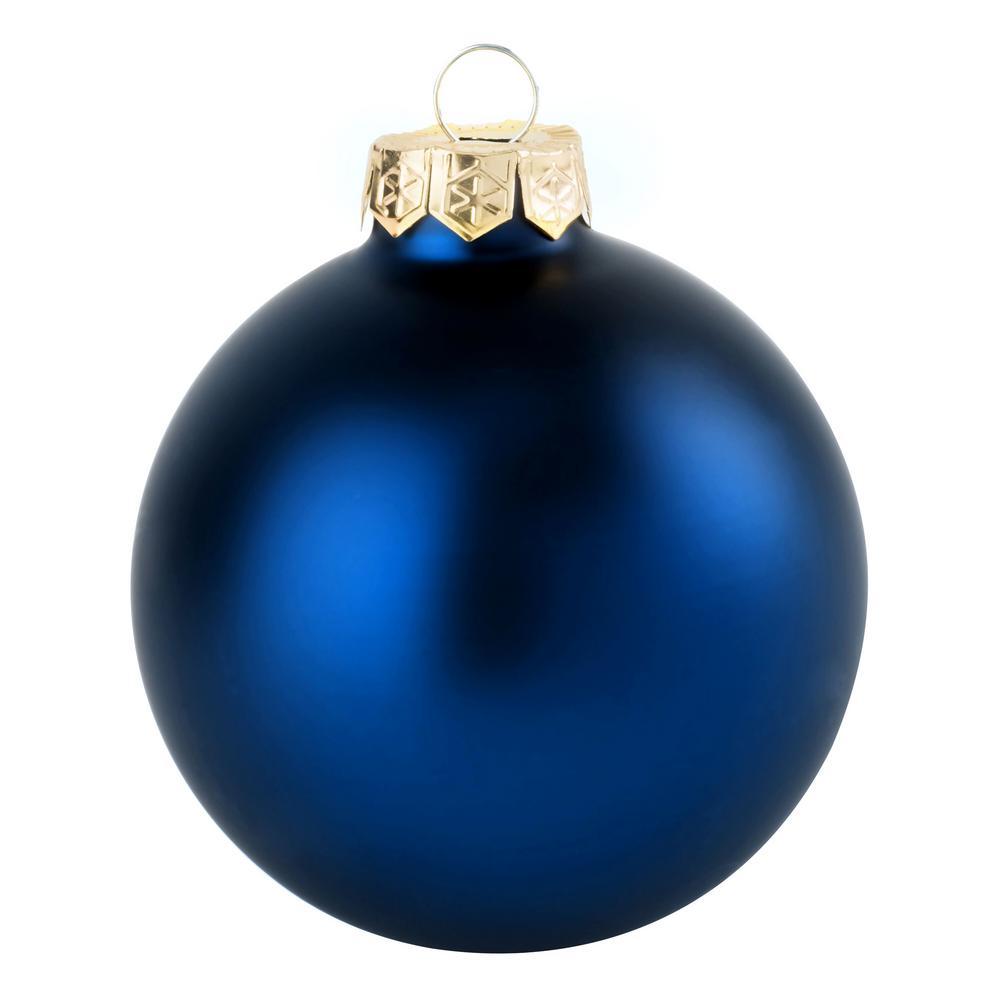 Whitehurst 1 25 In Midnight Blue Matte Glass Christmas Ornaments 40 Pack Blue Christmas Ornaments Christmas Ornaments Glass Christmas Ornaments