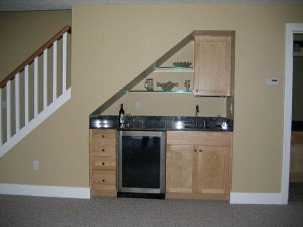 Small Under Stair Wet Bar For Basement   20 Creative Basement Bar Ideas,  Http:
