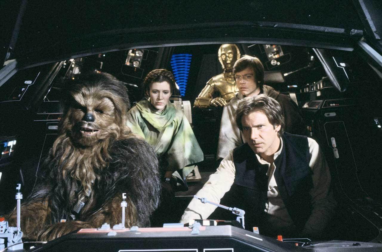 Luke, Han, Leia, and Chewbacca arrive at Endor