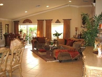 Tuscan Living Room Decorating Ideas | Tuscan family room designed by ...