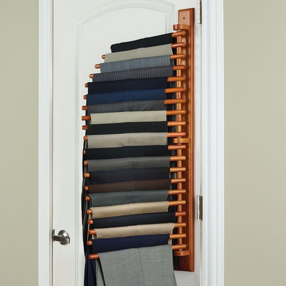 The closet organizing 20 trouser rack hammacher for Perchas blancas ikea