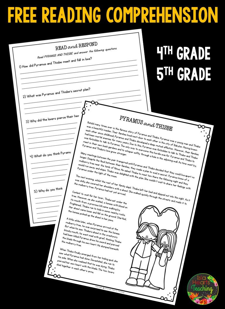 Free reading comprehension passage and questions for fourth grade and f…    Reading comprehension [ 1056 x 768 Pixel ]