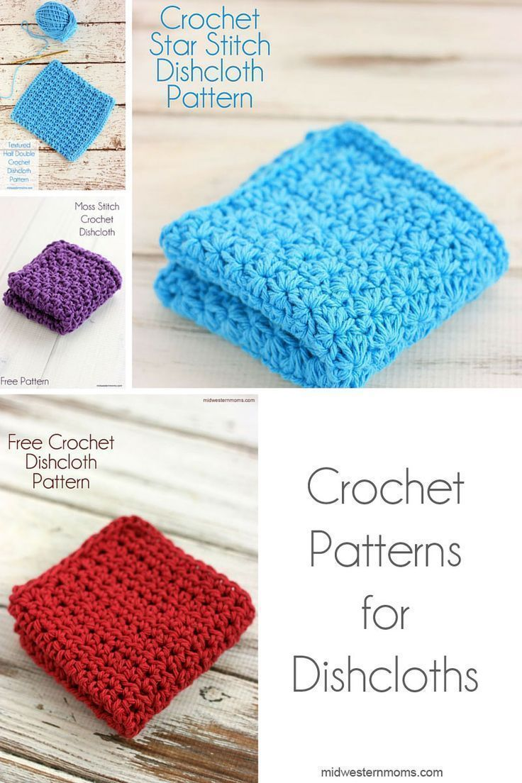 Crochet Dishcloth Patterns | Crochet dishcloth patterns, Crochet and ...