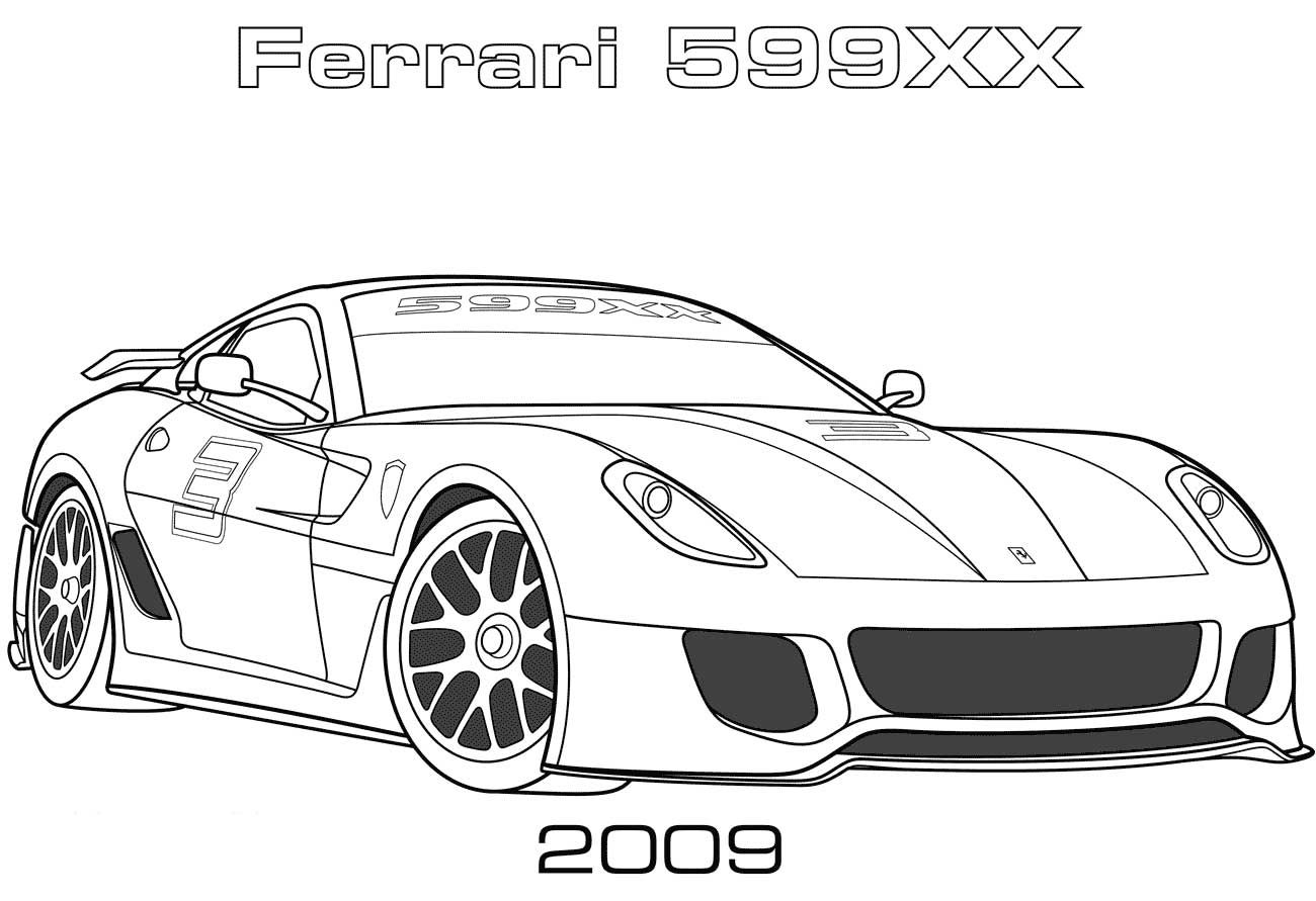 2009 Ferrari 599xx Coloring Page Don T Forget To Visit Our Helpful