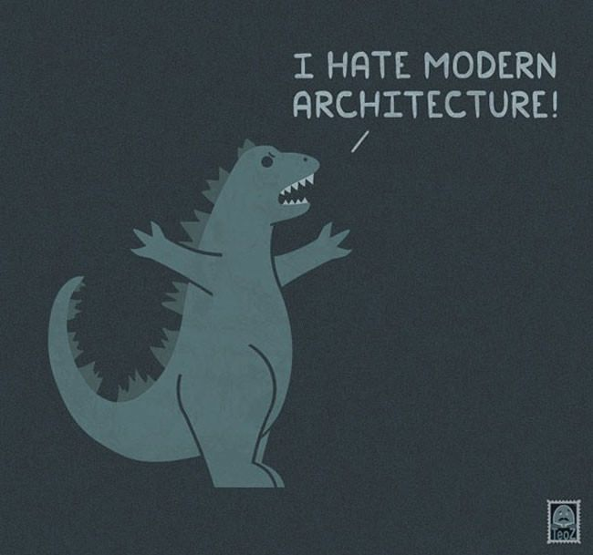 Cute illustrations show that even famous monsters have problems too