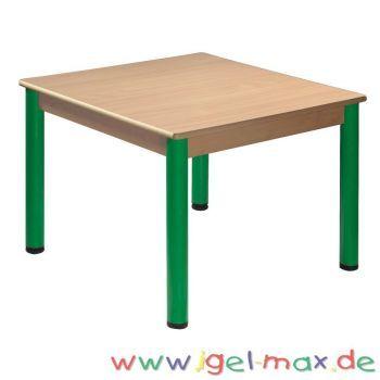 Quadrattisch 80x80 Cm Mit Nivellierfussen Kindergartenmobel Kindertisch Tisch