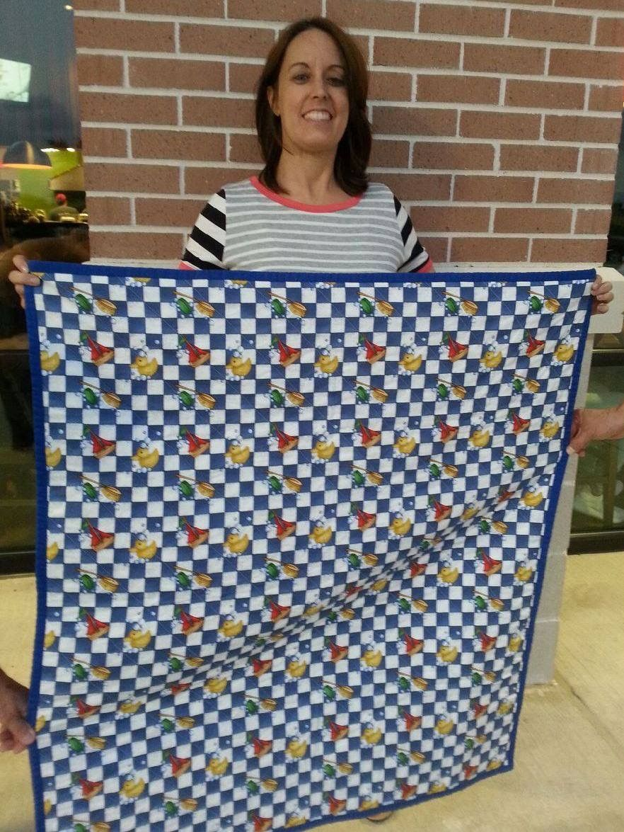 "Quilt made for Quilts for Kids by Natasha ""Rub a dub dub """