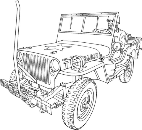 Willys Mb U S Army Truck Coloring Page Truck Coloring Pages Coloring Pages Coloring Pictures
