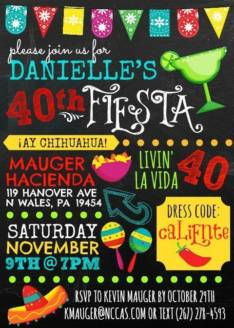 Image Result For Fortieth Birthday Fiesta 50th Party Mexican Parties