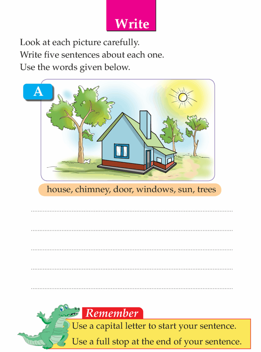 Writing skill - grade 1 - picture composition (5) | english