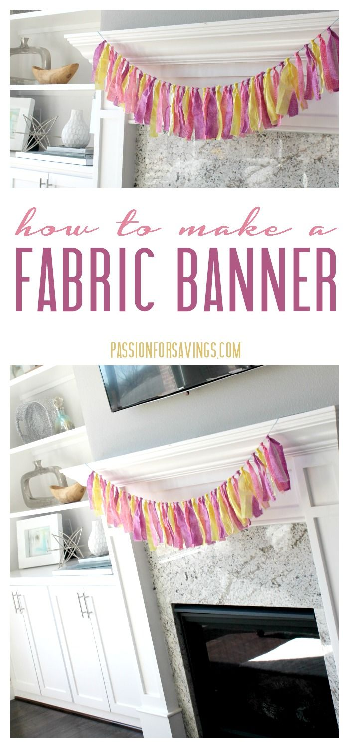 How to make a Fabric Banner for an Easy DIY Decoration for Birthday Parties or showers!