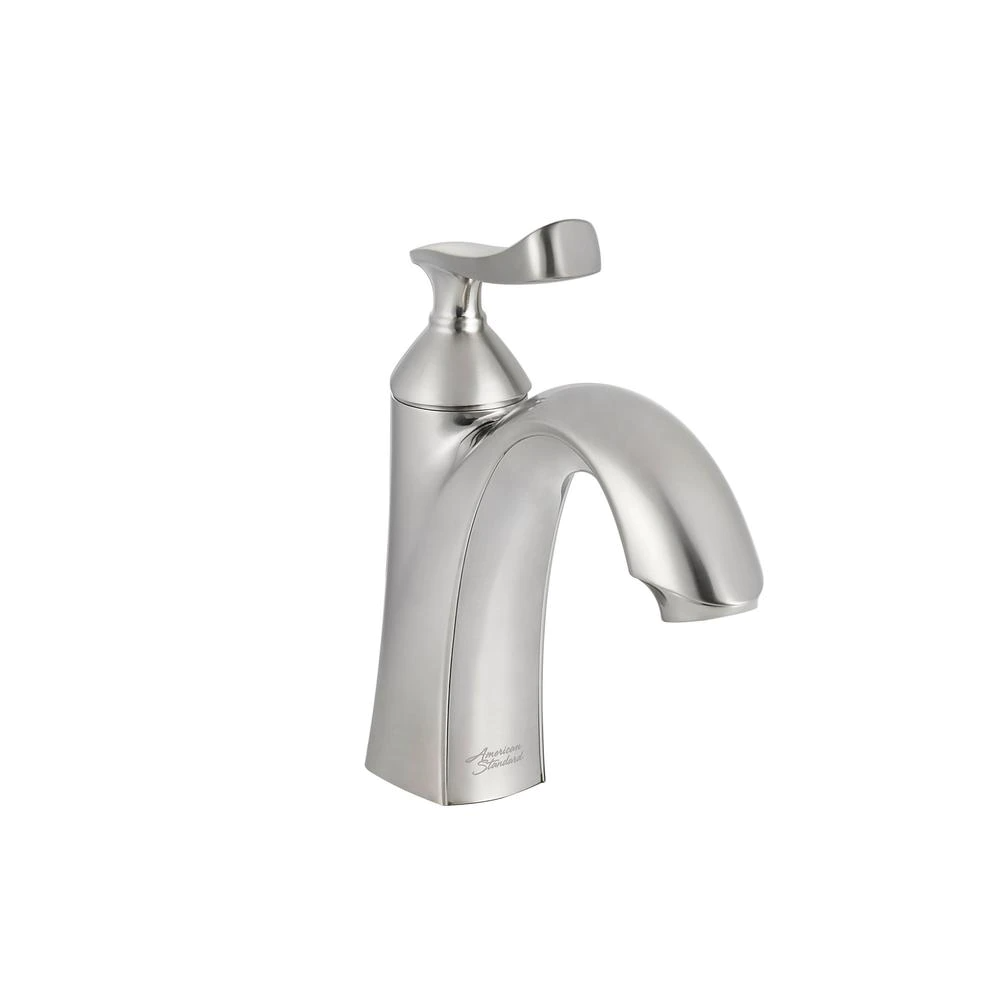 Pin On Quick Saves Brushed nickel single handle bathroom faucet