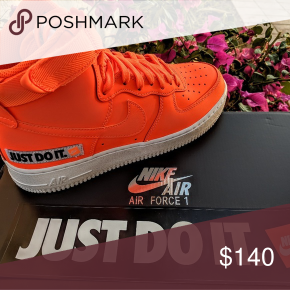 DS Nike Air Force 1 High Just Do It Pack Orange Dead Stock