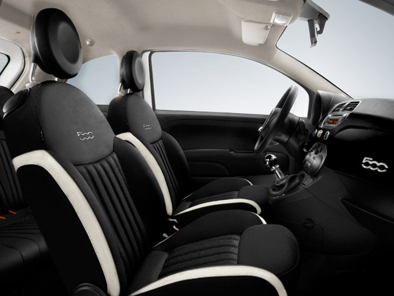 fiat 500 interior cream and black - Google Search | fiat | Pinterest ...