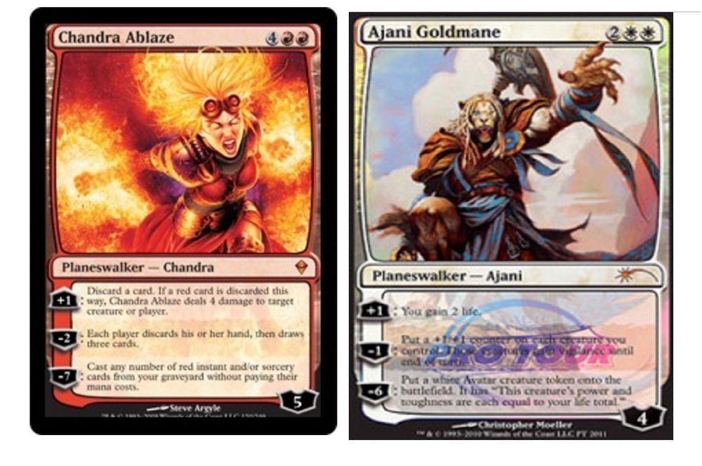 Ajani Goldmane Pro Tour Foil Chandra Ablaze /& 20 Random Rares MTG Gift Lot HOT