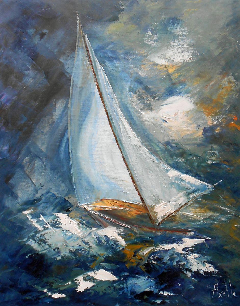 Tableau Voilier En Pleine Mer Peintures Axelle Bosler