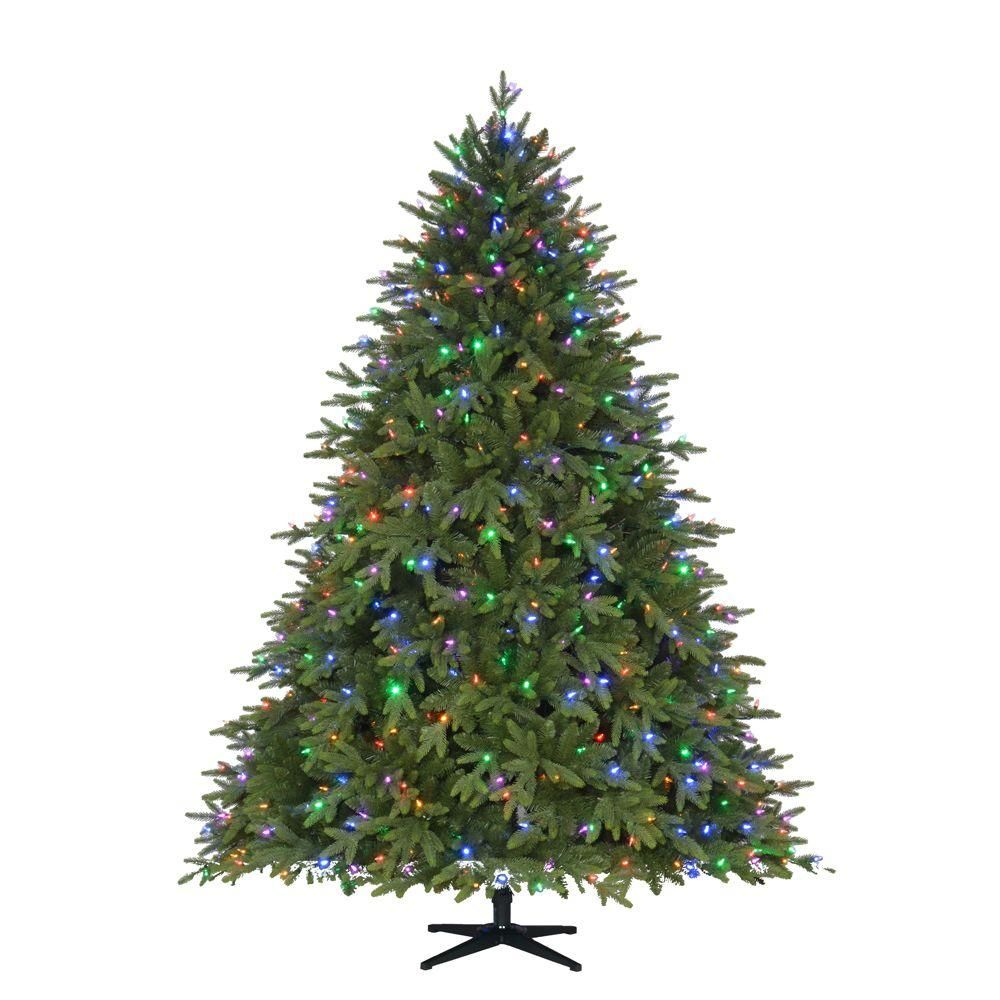 Uncategorized Coloured Artificial Christmas Trees home accents holiday 7 5 ft pre lit led monterey fir pe quick set artificial christmas tree